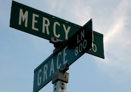 Mercy and Grace Street Signs